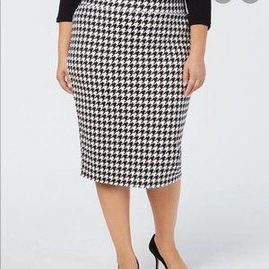 Alfani NWT Houndstooth Pencil Skirt Size 12 Petite